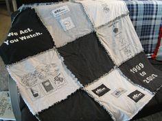 Custom+TShirt+Keepsake+Memory+Quilt+with+Flannel+by+FrayedFuzzies,+$67.00