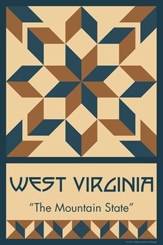Olde America Antiques | Quilt Blocks | National Parks | Bozeman Montana : 50 STATE QUILT BLOCK SERIES - WEST VIRGINIA
