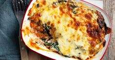 Serve a new version of lasagne using chicken mince and silverbeet.