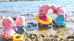 Детское видео! Видео с игрушками: про Свинку Пеппу, папу Свина и подводн...