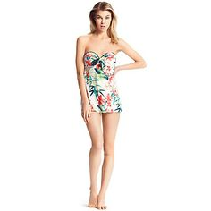 TIE FRONT BANDEAU ONE PIECE | Tommy Hilfiger USA