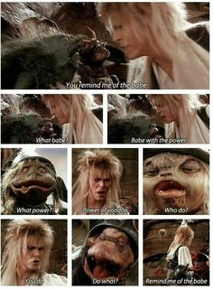 David Bowie in Labyrinth. (Jim Henson) One of my favorite movies :D