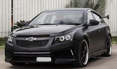 Modified Chevrolet Cruze Matte Black (Holden Cruze, - 2nd generation, J300)  http://www.101modifiedcars.com/2013/02/24/modified-chevrolet-cruze-holden-cruze-2nd-generation-j300/