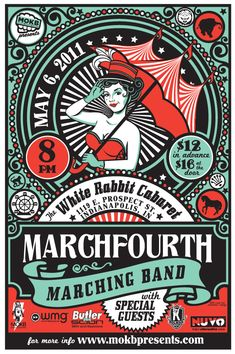 March Fourth Marching Band Poster by Lucie Rice at Coroflot.com