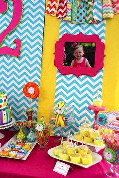 Sesame Street Elmo Girly Girl Rainbow Birthday Party Planning Ideas