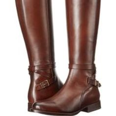 Frye Jordan Strap Tall Whiskey Riding Knee Boots