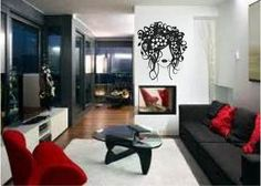 Love The Black And Red Idea For The Living Room When We Get Ready To Redo  It.