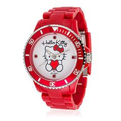 92b1cd1a9 Hello Kitty Child's Obi Red Red Plastic Analogue watch/JHK1004-22 //Price
