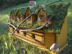 Rustic Decorative Birdhouse by ThePipitHouse on Etsy, $65.00