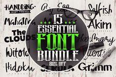 15 Essential Font Bundle by Pere Esquerrà on @creativemarket