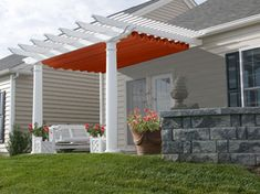 retractable pergola for sunny days