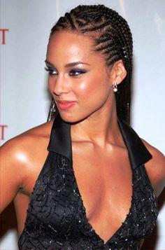 Alicia Keys Cornrow Braid Hairstyle