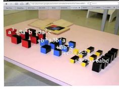 Trinomial cube  Montessori one step from the Binomial cube