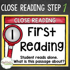 Ready to take close reading to the next level? Use the six Close Reading steps included here to guide your students to a deeper understanding of text.