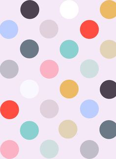 Polka Dots Stretched Canvas