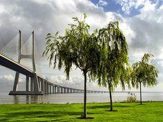 Parque das Nações, Lisboa, Portugal  Vasco da Gama bridge