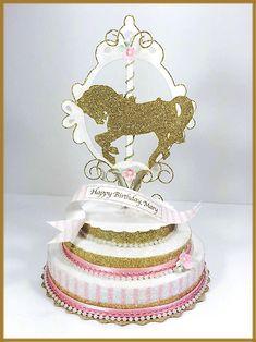 Vintage Carousel Pony Cake Topper Image