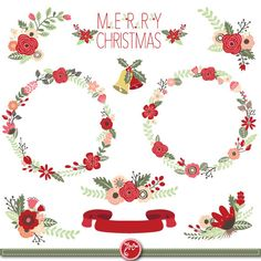 Christmas Wreath clip art CHRISTMAS WREATH clip door YenzArtHaut