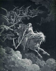 Gustav Dore, the fourth horseman, death.