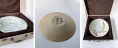 Unique Calligraphy Chinese Brushstroke Painting Collectable Plate Wood-fired Handmade in Jingdezhen by Master Maker Qi Zhonghe Chinese Design, Traditional Paintings, Ceramic Plates, Brush Strokes, Archaeology, Creative Art, Handmade Items, Calligraphy, Wood