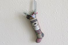 Snowman Mini Stocking. via Etsy.