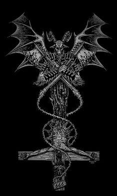 Occult Tattoo, Gothic Tattoo, Occult Art, Satanic Tattoos, Satanic Art, Dark Art Illustrations, Dark Art Drawings, Arte Horror, Horror Art