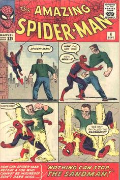 AMAZING SPIDER-MAN Published: September 1963 Added to Marvel Unlimited: November 2007 Penciller: Steve Ditko Spider-Man must contend with the villainous might of Sandman. But worst of all, Spidey has to deal with the dreaded. Marvel Comics, Old Comics, Marvel Comic Books, Comic Books Art, Marvel Art, Marvel Characters, Book Art, Amazing Spiderman, Amazing Spider Man Comic