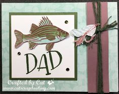 Color Dare 295 ~ Glacier, Nutmeg and New England Ivy Dad Crafts, Dad Day, Scrapbook Pages, Scrapbooking, Fathers Day Cards, Paper Hearts, Heart Cards, Masculine Cards, Close To My Heart
