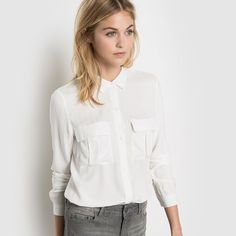 Image Long-Sleeved Shirt with Breast Pockets R essentiel