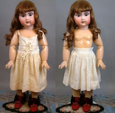 """Huge Stunning Chunky 33"""" Jumeau Bebe French Antique Doll in Classic from…"""
