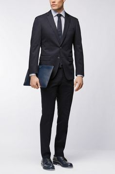 93750e84 Stretch Cotton Suit, Slim Fit | Helford/Gander. Bukser, Bukser, Hugo Boss,  Jakke ...