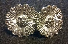 Vintage Round Art Deco 925 Sterling Silver & Marcasite Screw Back Earrings 2 pr! #ScrewOn