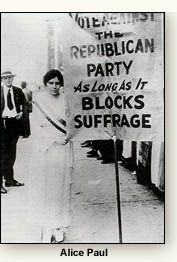 Alice Paul Womens History Thesis and ideas?