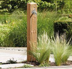 GRAF Wasserzapfsäule Poly Wood lightwood 356031 Garten Wasserstelle