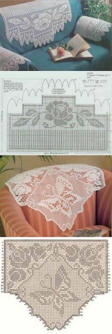 Красивые вязаные накидки на кресло. + схемы | razpetelka.ru