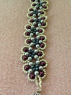 Beautiful Pearl Beadwoven Bracelet by BeadingBeeCreations