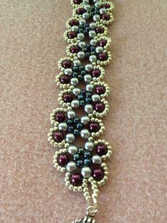 Beautiful Pearl Beadwoven Bracelet by BeadingBeeCreations