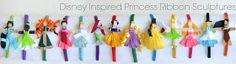 Disney Princess Inspired Ribbon Sculpture Patterns!