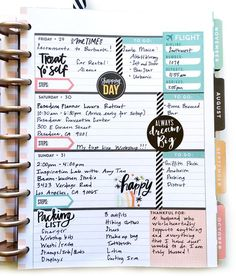 full July week in the Rose Gold Horizontal Happy Planner™ by mambi Design Team member Theresa Doan | me & my BIG ideas