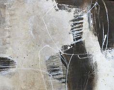 18 - o.T. - aus der Serie Form und Struktur - Mischtechnik auf Acryl-Malkarton - 50 cm x 64 cm