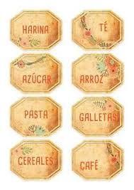 Resultado de imagem para etiquetas para condimentos de cocina
