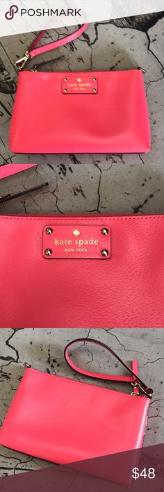 Kate Spade Kate Spade Wristlet Pink great condition kate spade Bags Clutches & Wristlets