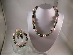 Hungarian Bloom Necklace, Bracelet and Earrings Set $44.95