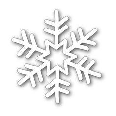 Simon Says Stamp - Funky Snowflake die Snowflake Stencil, Snowflake Template, Snowflake Craft, Christmas Snowflakes, Felt Christmas, Cumple De Frozen Ideas, Cardboard Crafts, Paper Crafts, Simple Snowflake