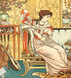 Beauty & The Beast by Walter Crane [©1911]