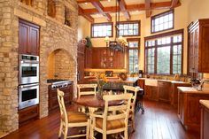 Ken Pieper - When An Extraordinary Home Design Counts. Log Home Kitchens, Cool Kitchens, Home Design, Interior Design And Construction, Log Home Living, Rustic Kitchen, Nice Kitchen, Kitchen Ideas, Zen Room