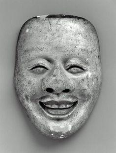 Noh mask of the Enmeikaja type 能面 延命冠者 Japanese, Edo period, century, Japanese cypress, MFA Japanese Noh Mask, Noh Theatre, Japan Crafts, Japanese Monster, Art Asiatique, Japanese Folklore, Visual Memory, Art Japonais, Edo Period