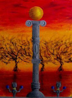 """La Colonización"" - oil on canvas  http://danigarridon.wordpress.com/"