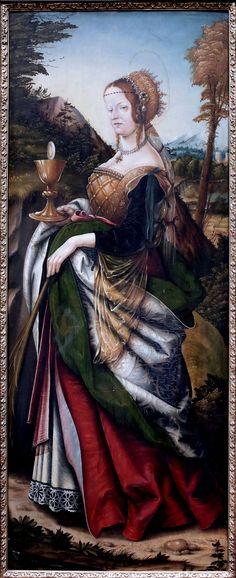 Hans Burgkmair : St. Barbara (Gemäldegalerie Alte Meister - Staatliche Kunstsammlungen Dresden (Germany - Dresden)) 1473-1531 ハンス・ブルクマイアー