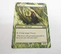 MTG Altered Painted Arbor Elf M13 #WizardsoftheCoast
